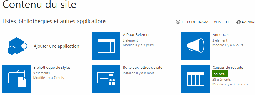 sharepoint office 365 importer une feuille excel dans une